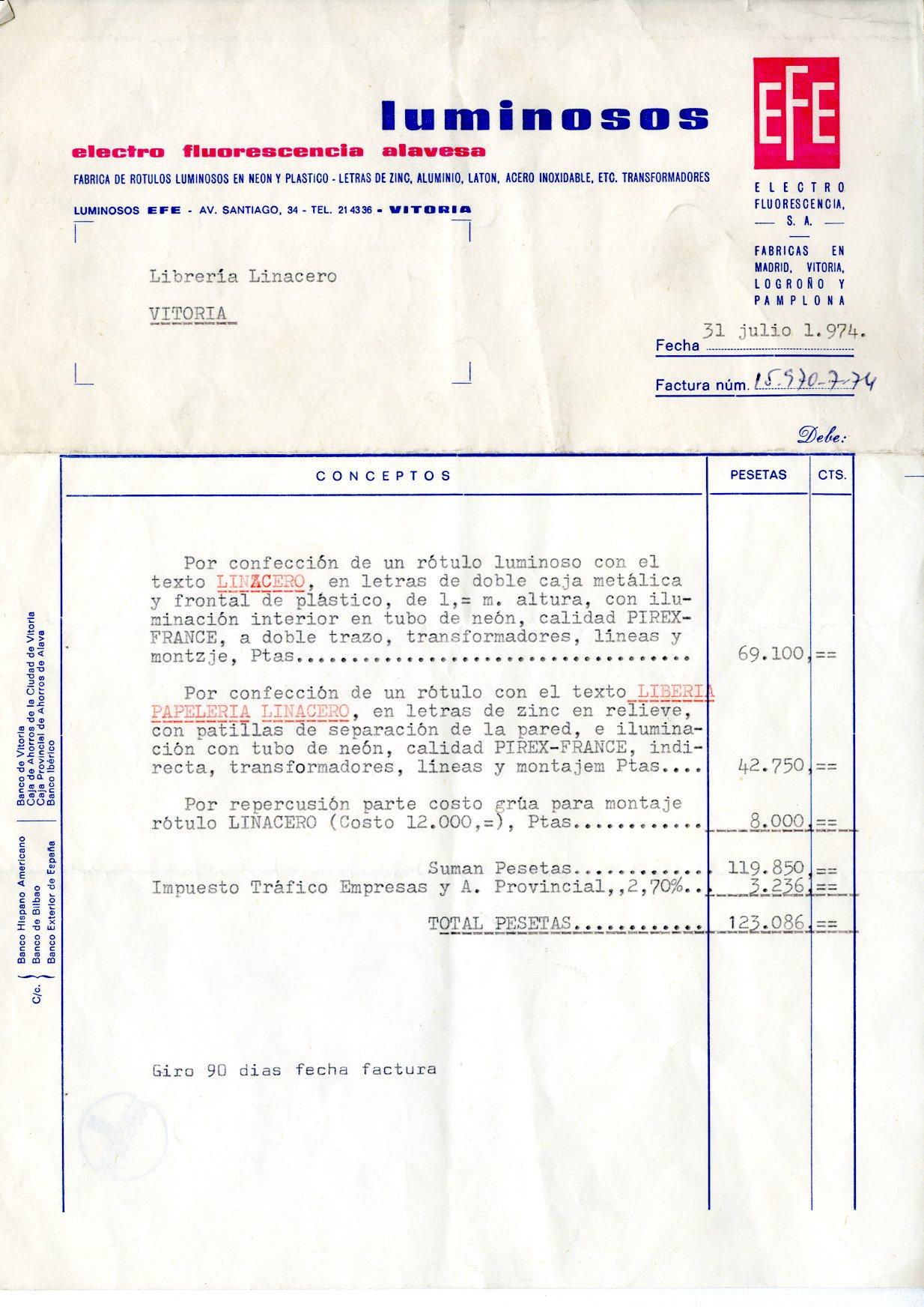 Base de datos de recibos y letras de industrias comercios y profesionales de vitoria gasteiz - La casa del electricista bilbao ...